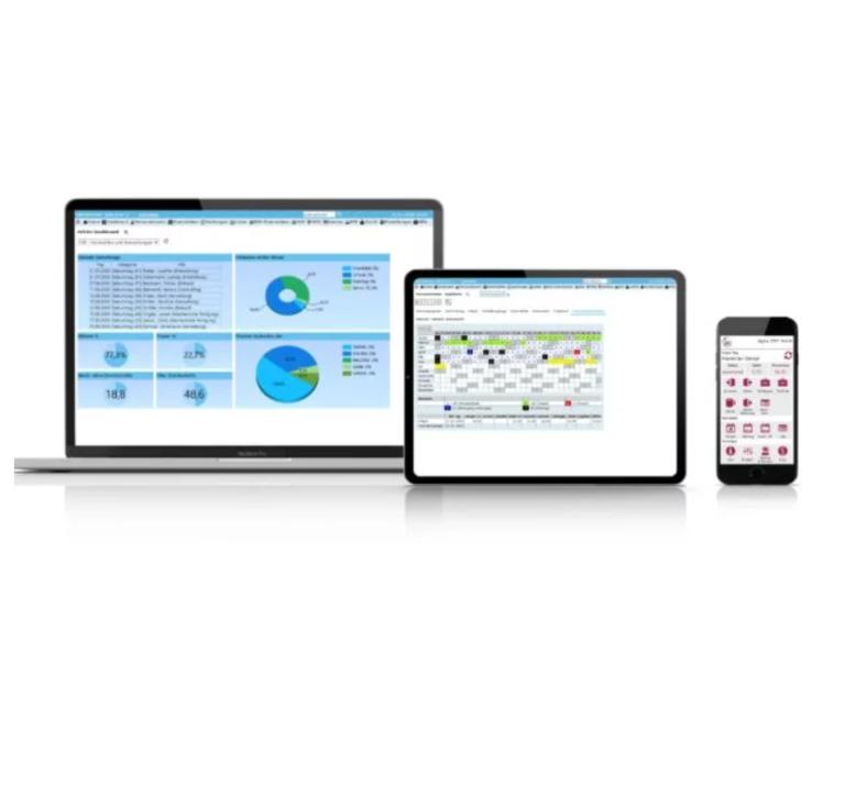 AVERo Software auf verschiedenen Geräten