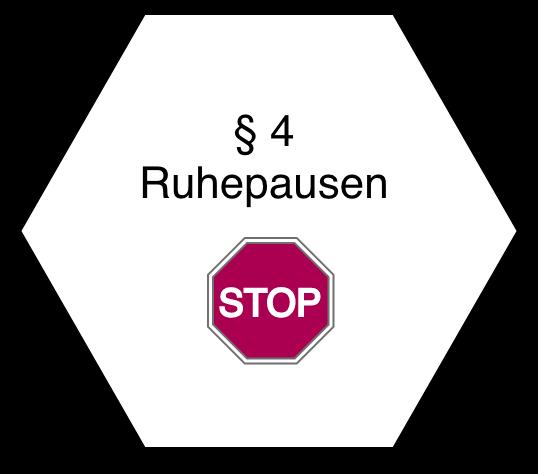 Wabe mit Stop Zeichen
