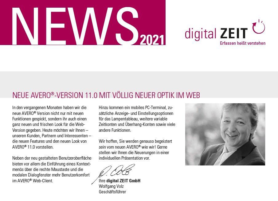 News AVERO 11.0