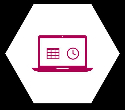 Laptop Grafik in Wabe