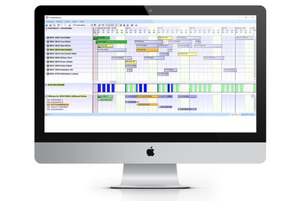 Projektplanungsansicht am PC