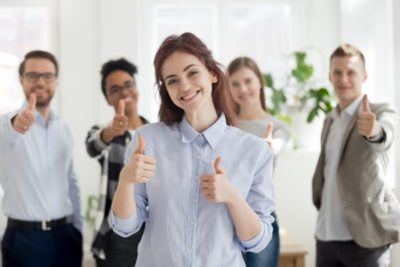 Zufriedene Mitarbeiter