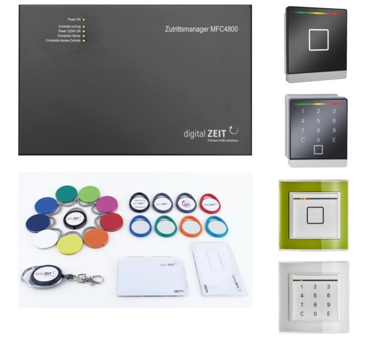 Unsere Hardwarelösungen für Zutrittsmanager mit RFID Chips, Fingerabdruck und PIN