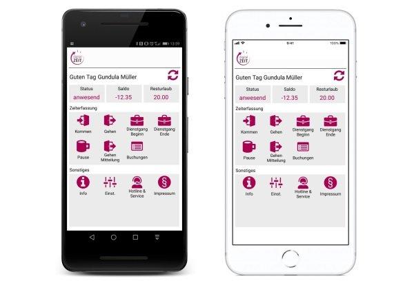AVERO mobile App auf Smartphone